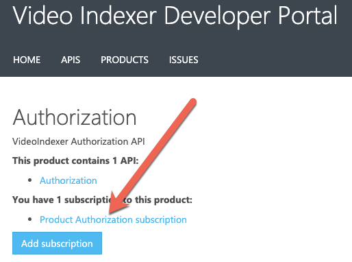 Authorization product subscription
