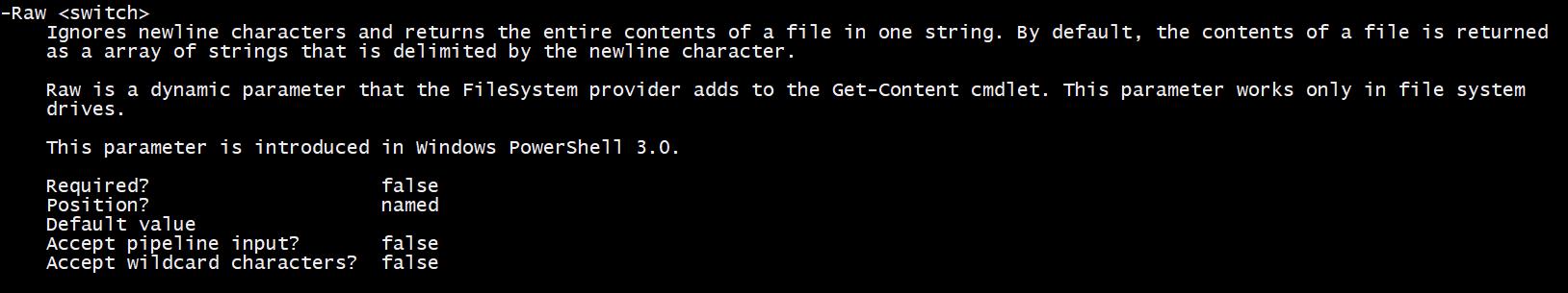 Get-Help parameters