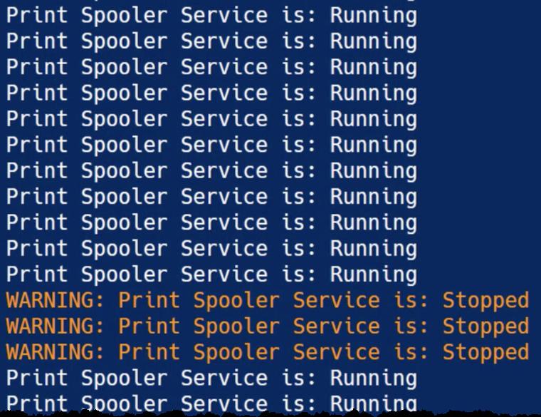 Pulseway script task output