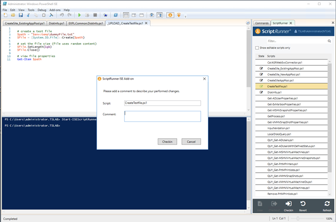 ScriptRunner integration in PowerShell ISE