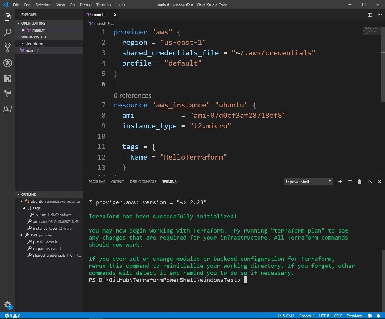 Getting Started with Terraform on Windows (Demo Walkthrough)
