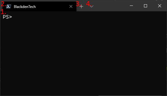 Default new windows terminal