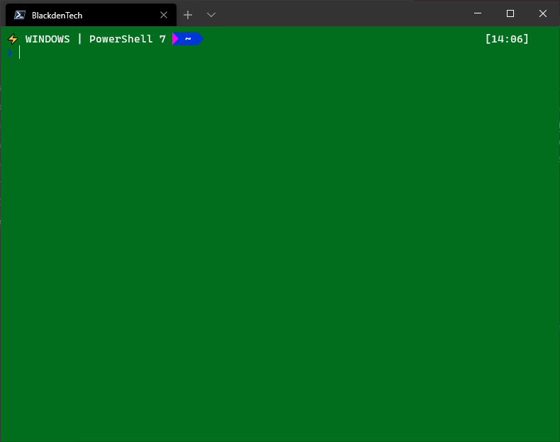 Plain color background in  New Windows Terminal