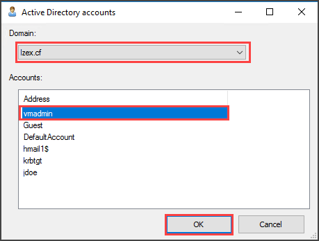 Adding User to the Active Directory Box
