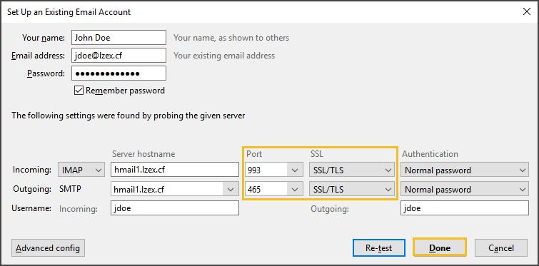 Port and SSL Values