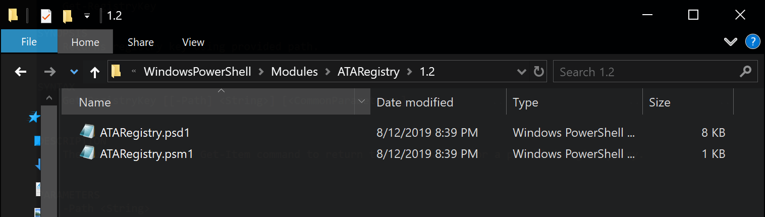 Folder name is the module version