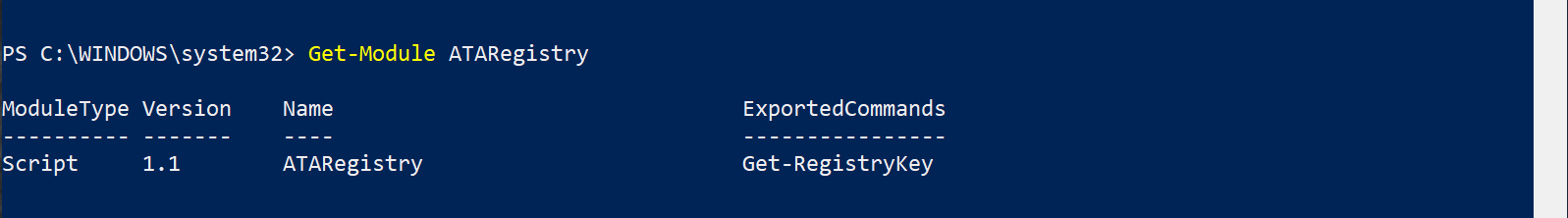 Exported commands now show up
