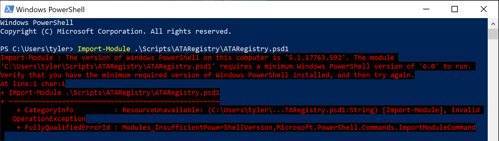 Requiring certain versions of PowerShell