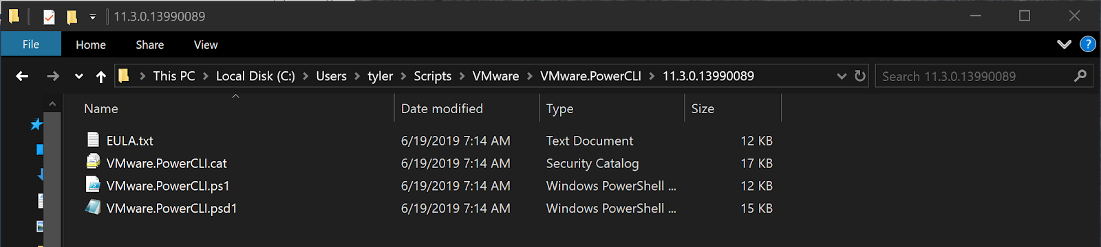 VMware.PowerCLI module contents