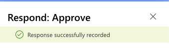 Approval response received