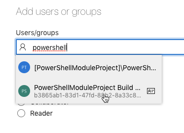 Searching for the PowerShell contributor