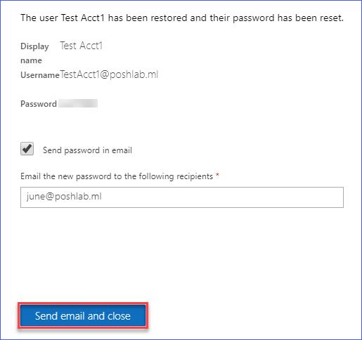 Confirmed user restoration