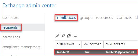 Mailbox is restored