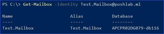The mailbox was restored