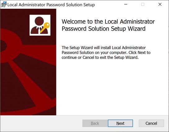 Installing Microsoft LAPS
