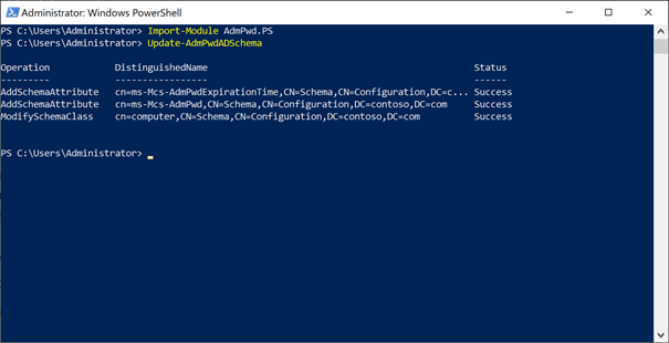 Powershell Admin Account
