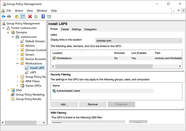 Creating GPO called Install LAPS