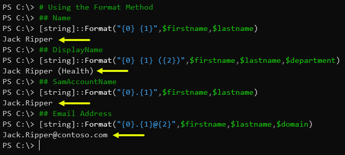 Using the .NET String.Format Method