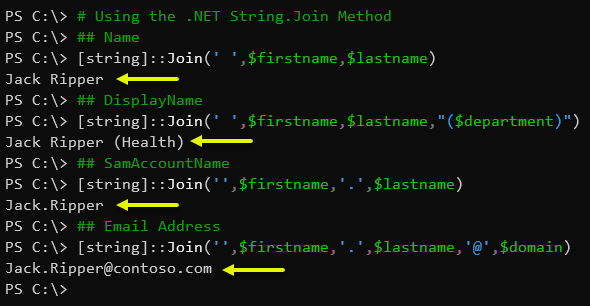 Using the .NET String.Join Method