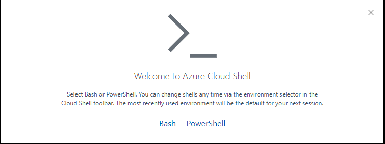 Cloud Shell Prompt for Bash or PowerShell