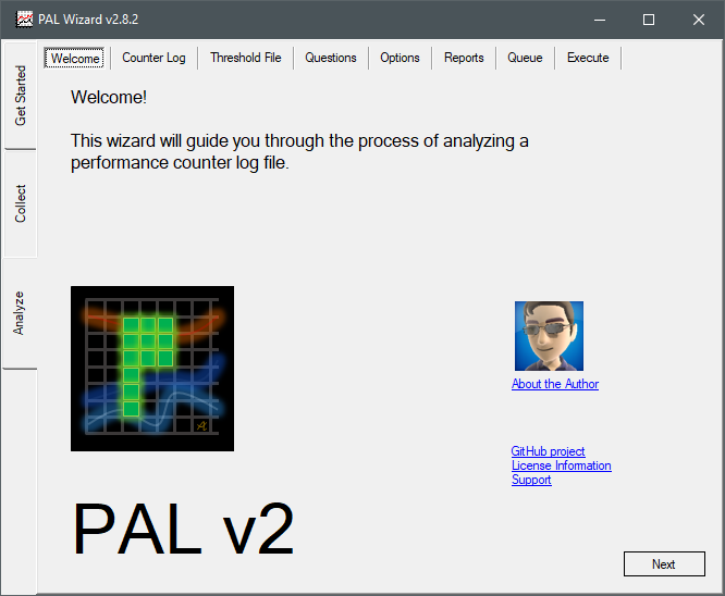 PAL Tool Welcome tab