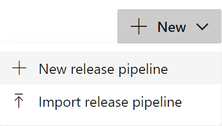 New release pipeline menu option
