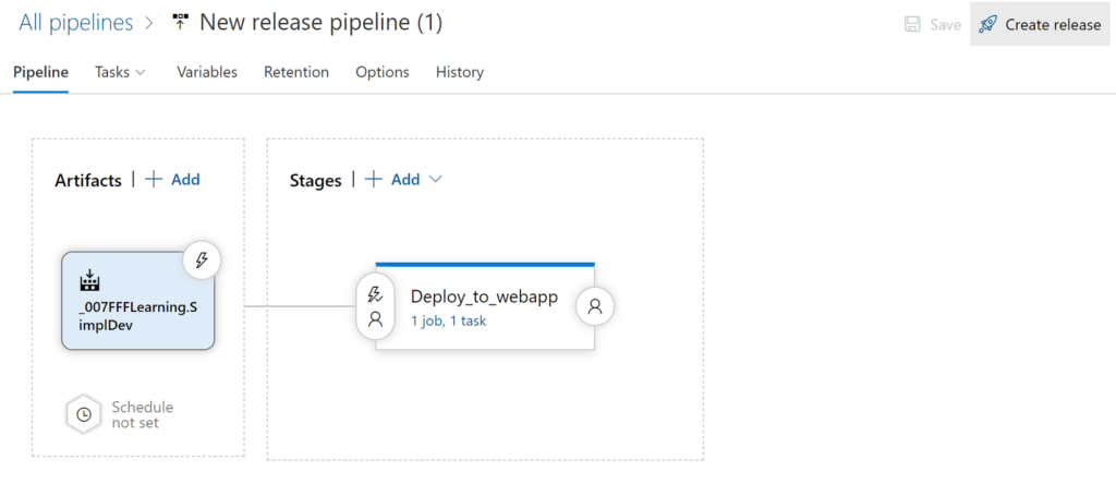 New release pipeline overview