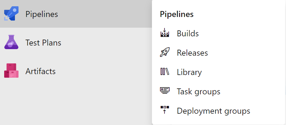 Azure DevOps Builds menu