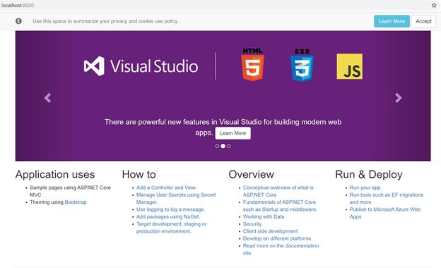 Sample ASP.NET web app