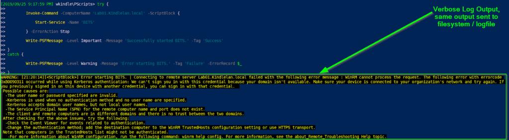 PSFramework filesystem log provider