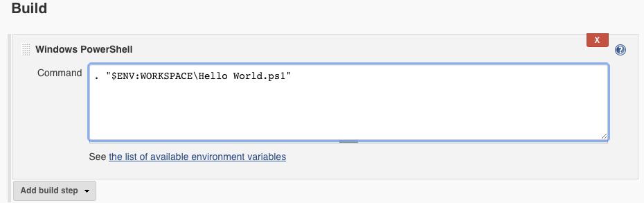Running the Hello World.ps1 script