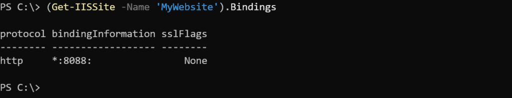 Example 1: Finding binding information