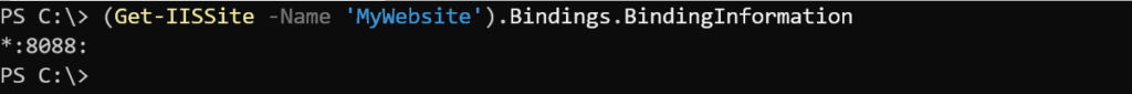 Example 2: Finding binding information