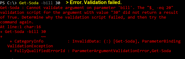 Validation error is unclear