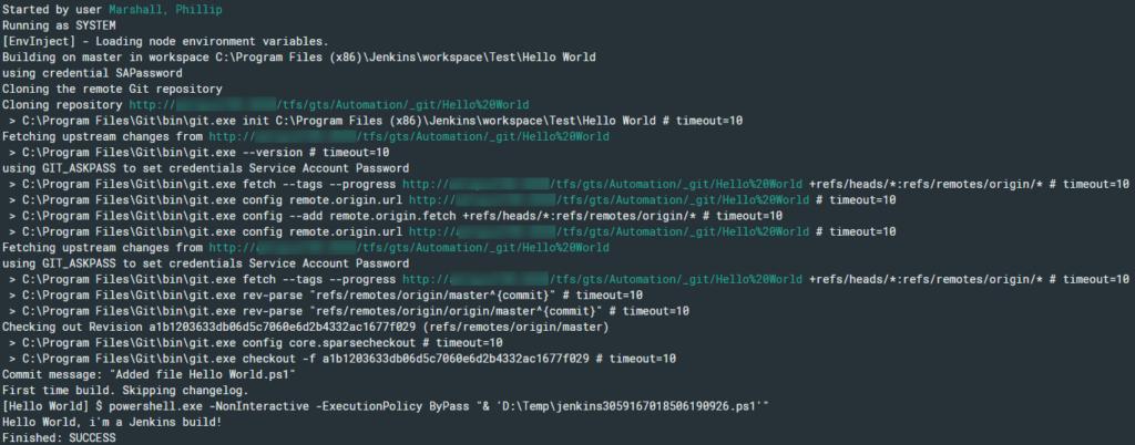 Build log results