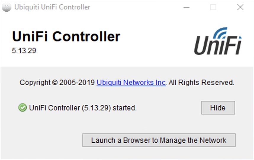 The Ubiquiti Unifi Controller software running