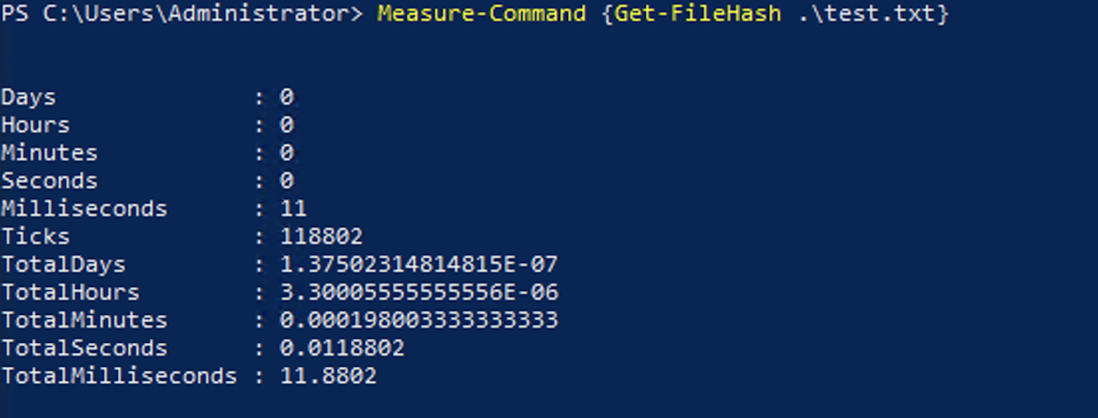 First run of the code completing in 11.9ms.