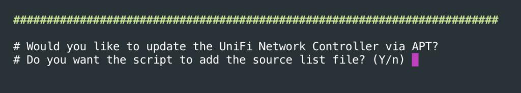 Adding the Unifi Network Controller repo to apt