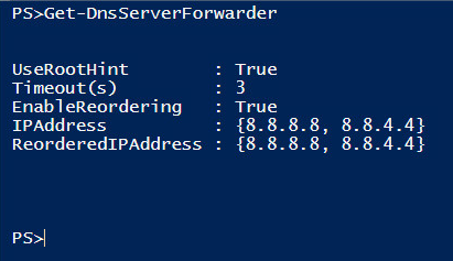 Finding existing DNS server forwarders