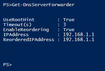 Confirming DNS server forwarder change