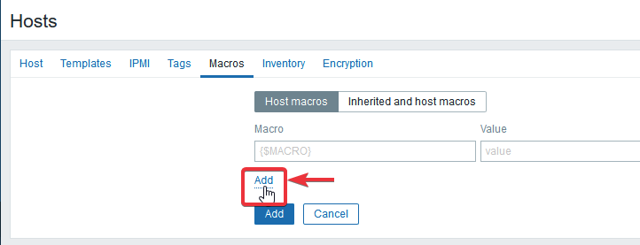 Adding a new Host macros field