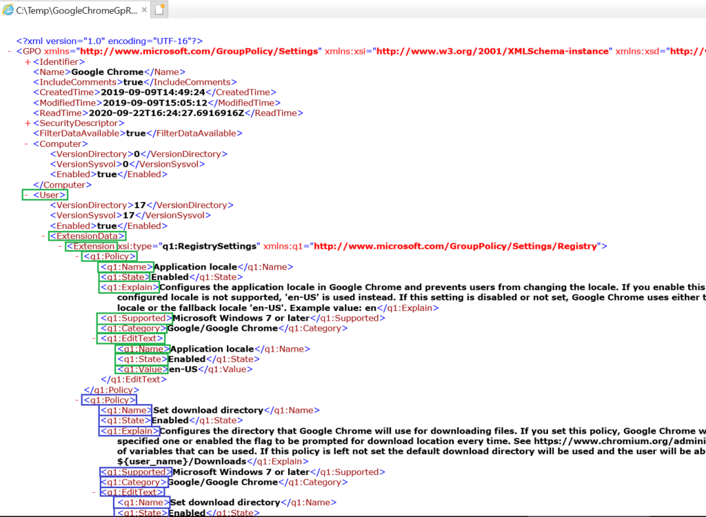 The content of ExtensionData, highlighted