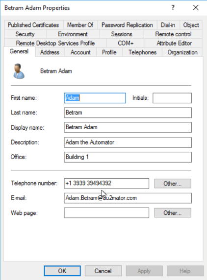 The Active Directory User