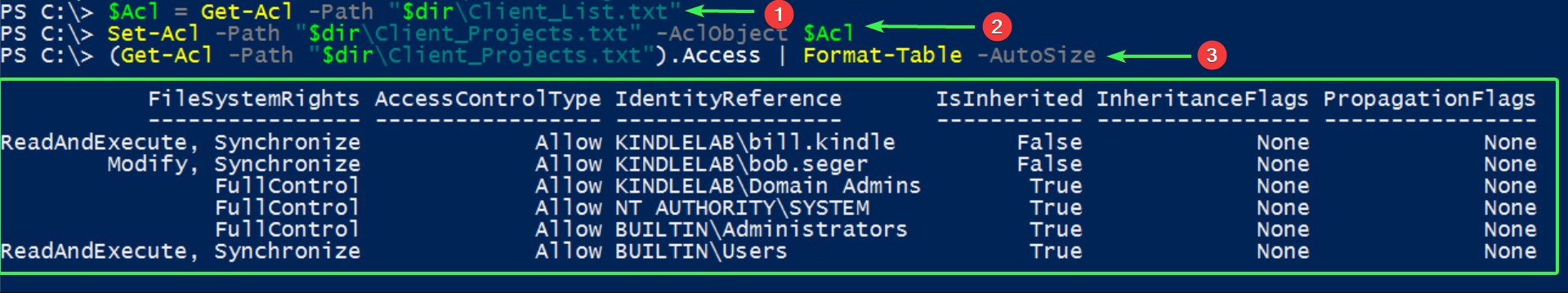 NTFS Permissions Copied