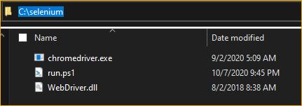 Selenium working directory
