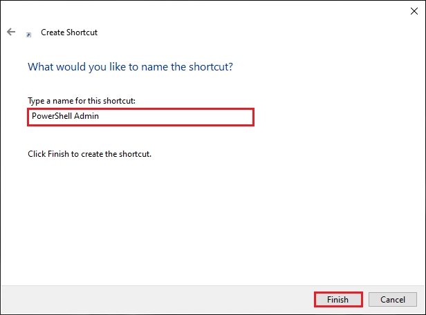 Name The Shortcut For PowerShell