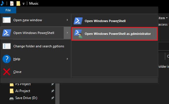 Run PowerShell From File Menu in File Explorer