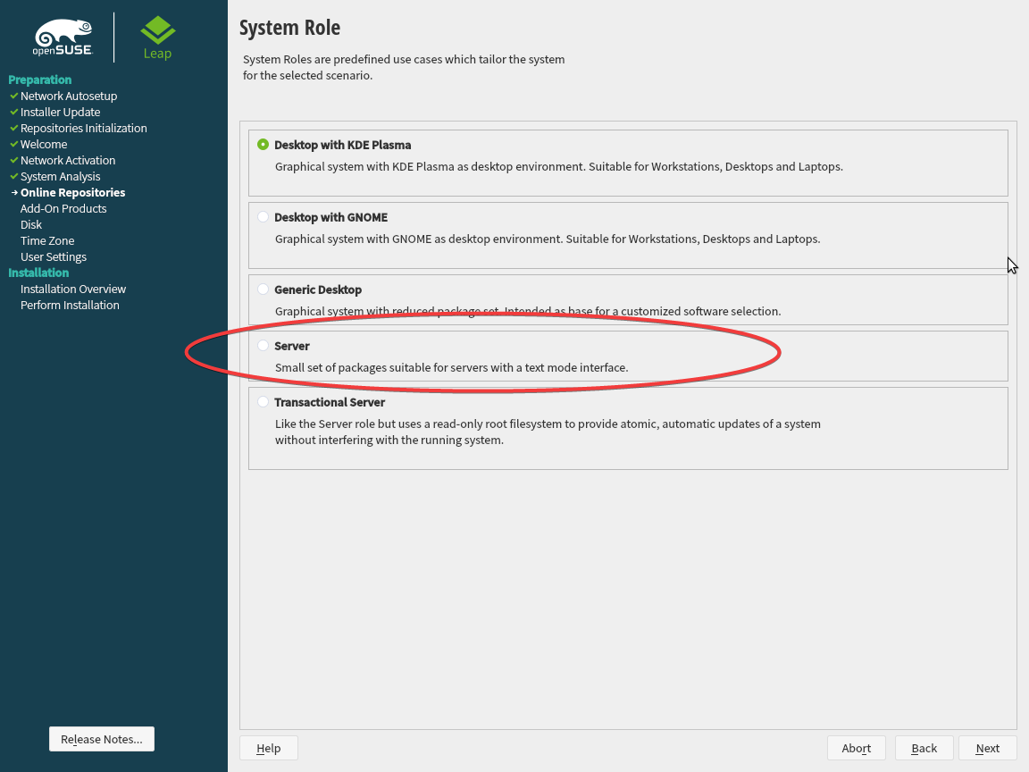 Server Edition of OpenSUSE