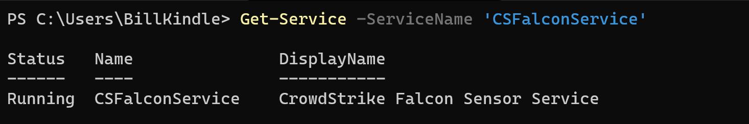 Get-Service cmdlet