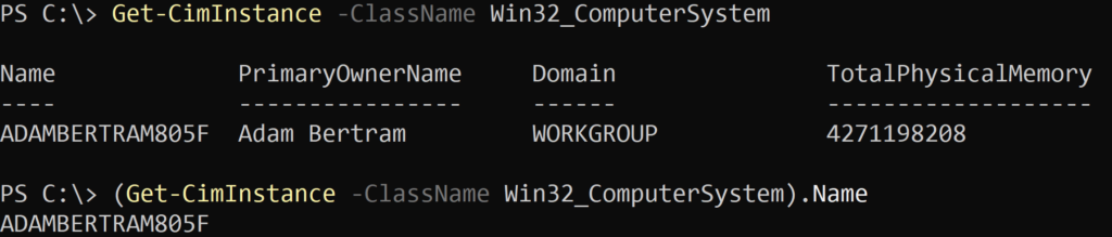 Win32_ComputerSystem Query